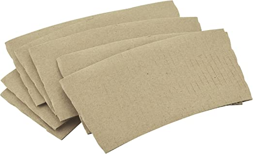 100 Pack 8 Oz [12, 16, 20] [4 Colors] Disposable Hot Paper Coffee Cups, Lids, Sleeves, Stirring Straws Mocha Brown