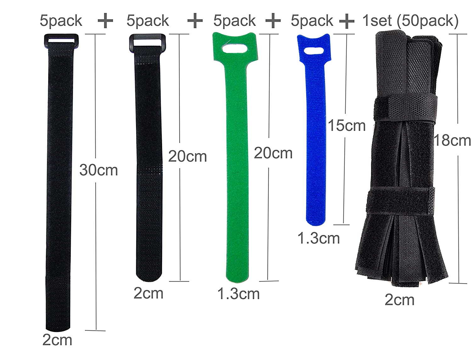 Ceeyali Reusable Fastening Cable Ties Cable Straps for Wires Organization Wire Management Pack of 70 4330221415