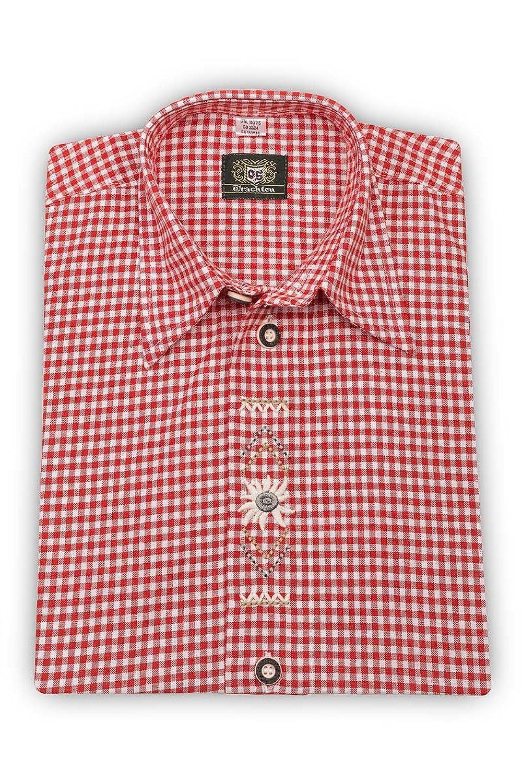 OS-Trachten Jungen Kinderhemd rot karo Dominik 140387