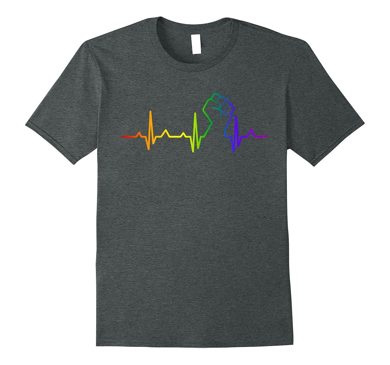 LGBT Heartbeat T-shirts, Gay-Lesbian Pride Shirts
