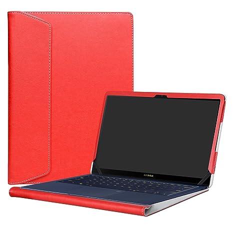"""Alapmk Diseñado Especialmente La Funda Protectora de Cuero de PU para 14"""" ASUS ZenBook 3"""