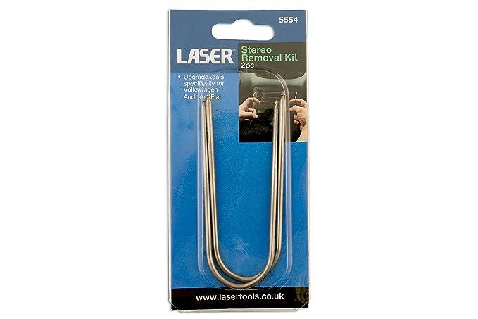 Amazon.es: Laser 5554 - Juego de Herramientas para extracción de radios de Coche (2 Piezas)