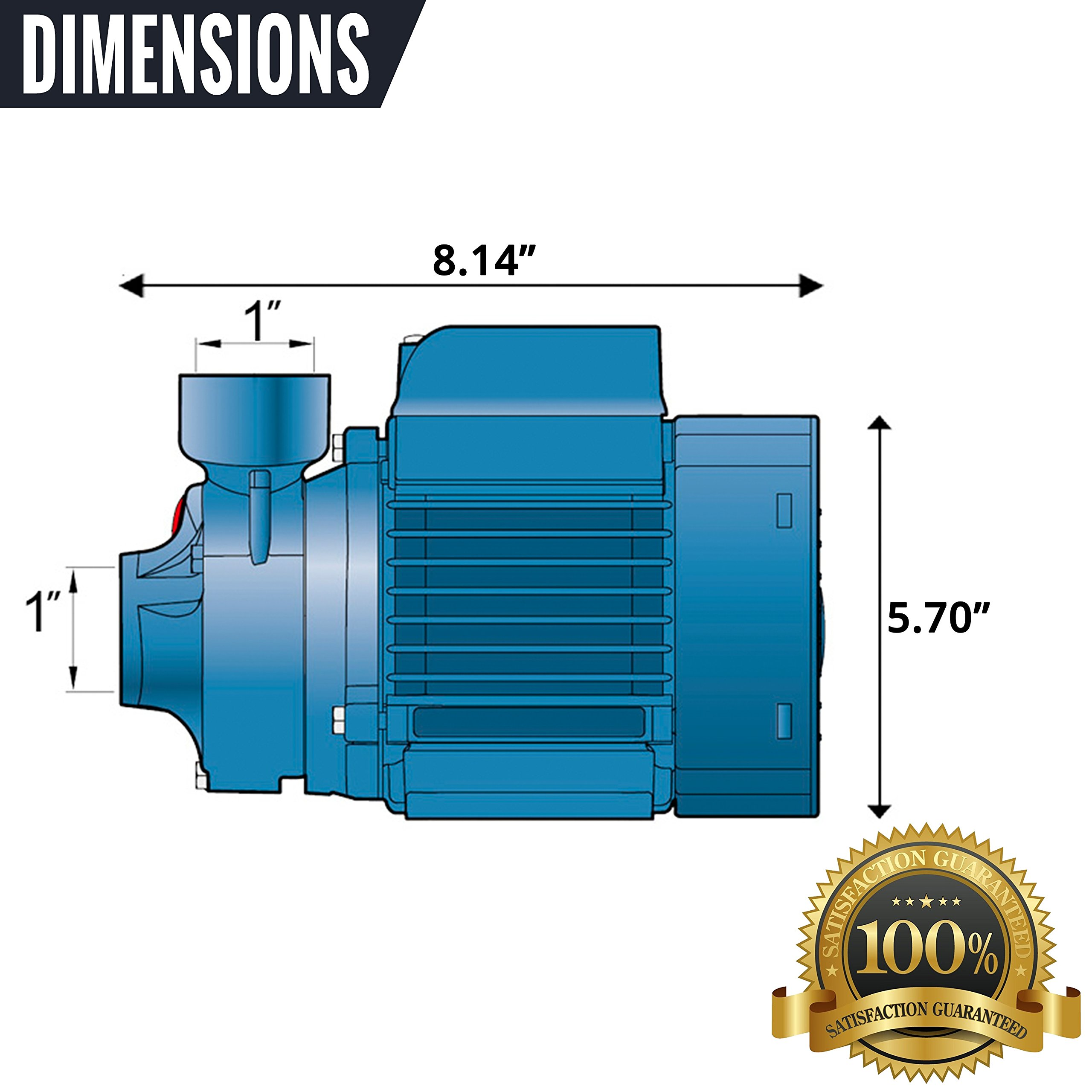 Pedrollo Booster Water Pump — 634 GPH, 1/2 HP, 115 Volts, Model# PKm60 by Pedrollo (Image #1)