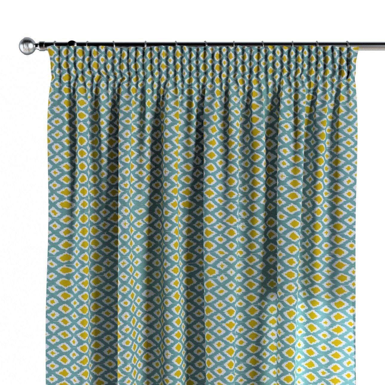 Dekoria Vorhang mit Kräuselband Dekoschal Blickdicht 1 Stck. 130 × 260 cm olivergrün-türkis Maßanfertigung möglich