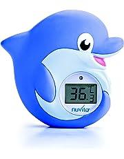 Nuvita 1006 Termometro per Bagnetto 2 in 1 - Bagno e Ambiente – Termometro Digitale con LED - Rossa Troppo Caldo e Blu Troppo Freddo – Giocattolo Sicuro Conforme EN71 - Design Italiano