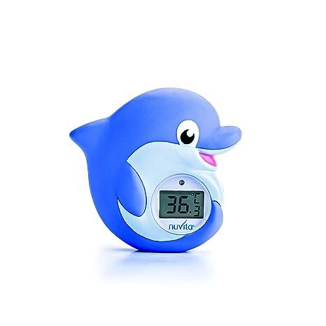Termómetro Digital para Baño y Habitación 2 en 1 Nuvita 1006 - Alarma LED Muy Caliente