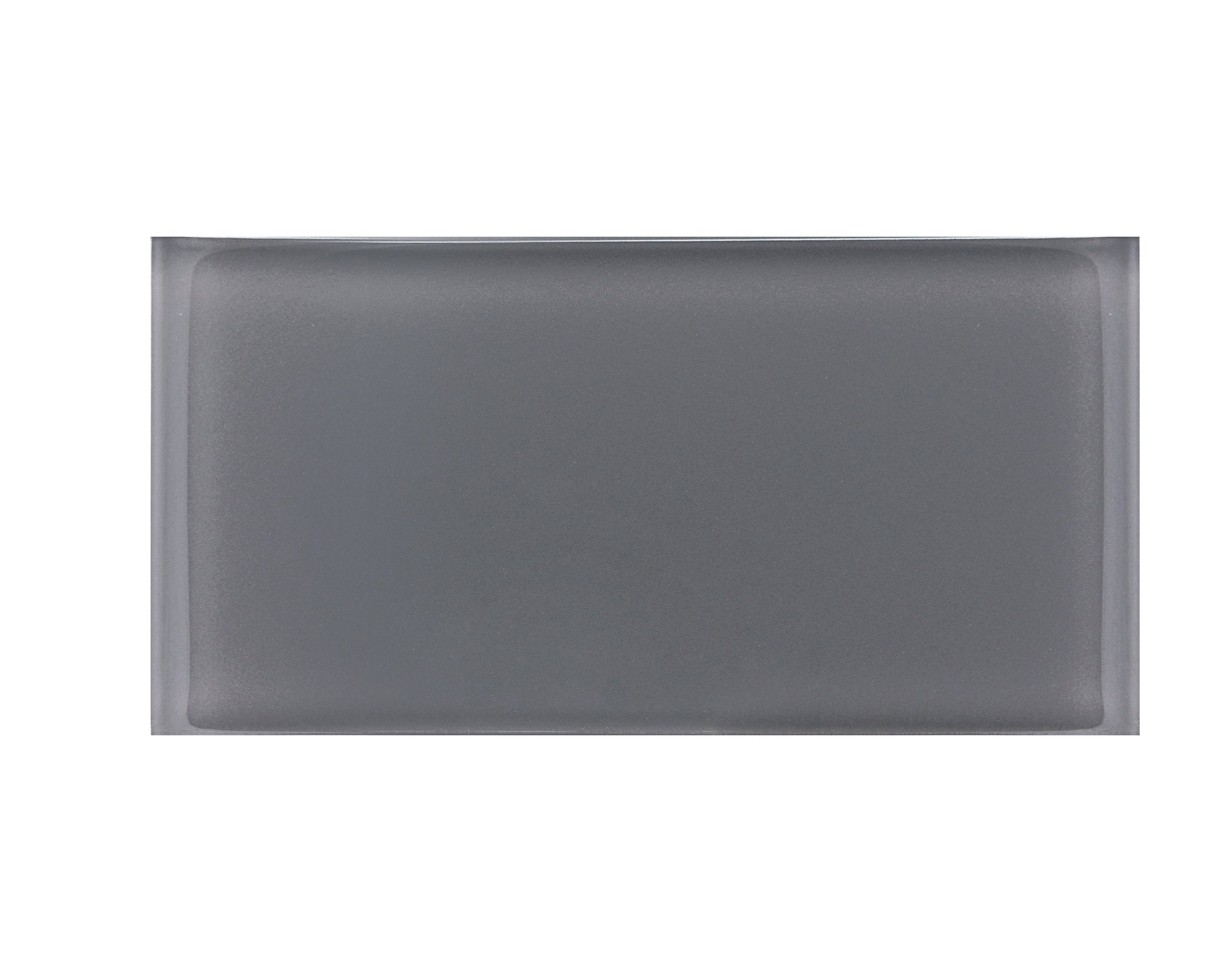 3''x6'' Gray Crystal Glass Subway Tile for Kitchen Bathroom Shower Wall (Box of 5 sq ft $79)