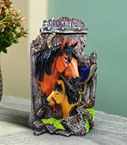 Horse Garden Figurines Outdoor Decor, Garden Art Outdoor for Fall Winter Garden Decor, Outdoor sculture for Patio, Lawn, Yard Art Decoration Garden Gift