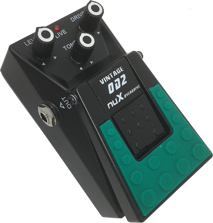 Nux- Pedal de efectos para guitarra y bajo overdrive sonido válvulas