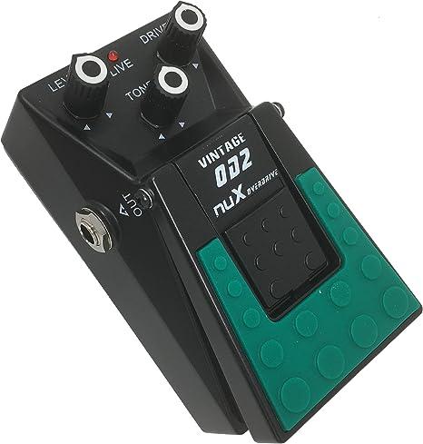 Nux- Pedal de efectos para guitarra y bajo overdrive sonido ...