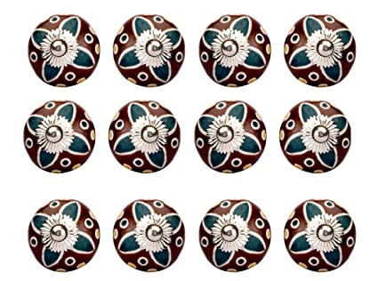 Ceramic Cabinet Knobs Door Knobs Drawer Pulls Wardrobe Knobs Colorful  Indian Handmade And Decorative Knobs And