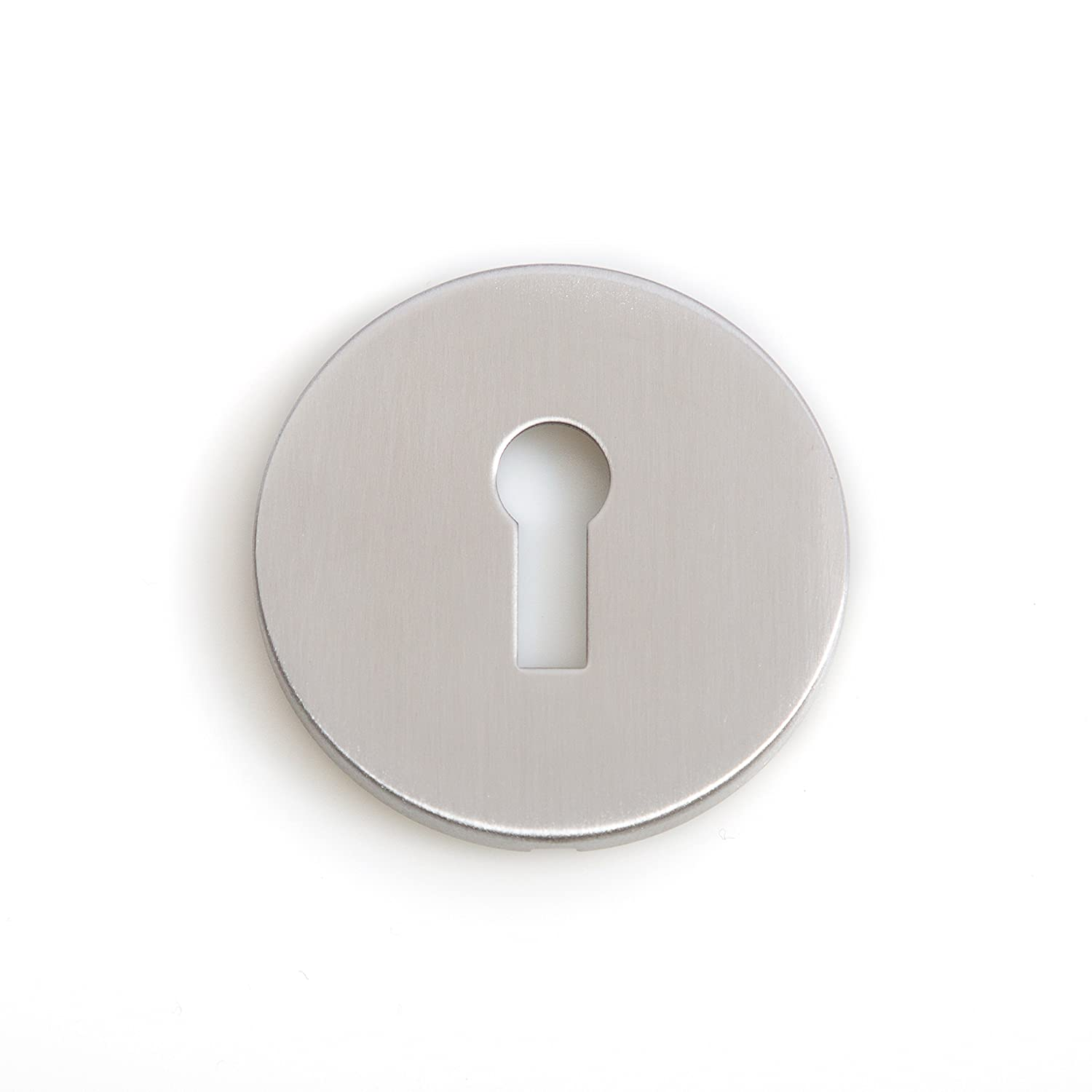 50mm STAINLESS STEEL ESCUTCHEON Key Hole Cover Keyway Profile EASY FIT PLATE Go Door Handle