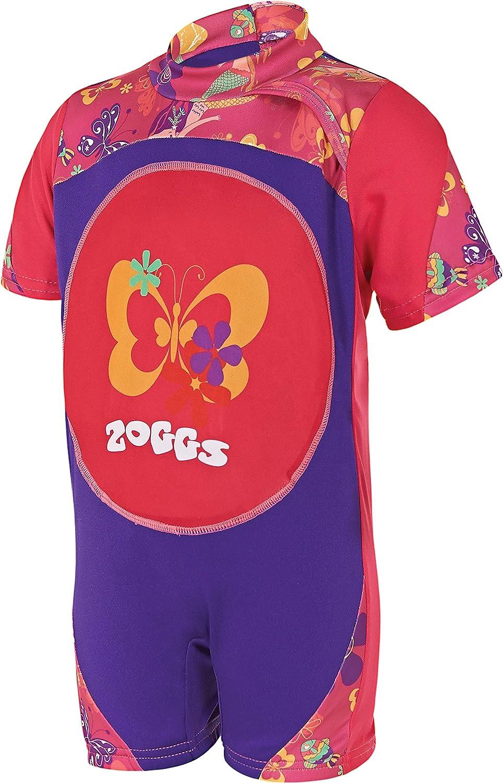 Zoggs Girls\' Mermaid Flower Swimfree One Piece Swimming Suit