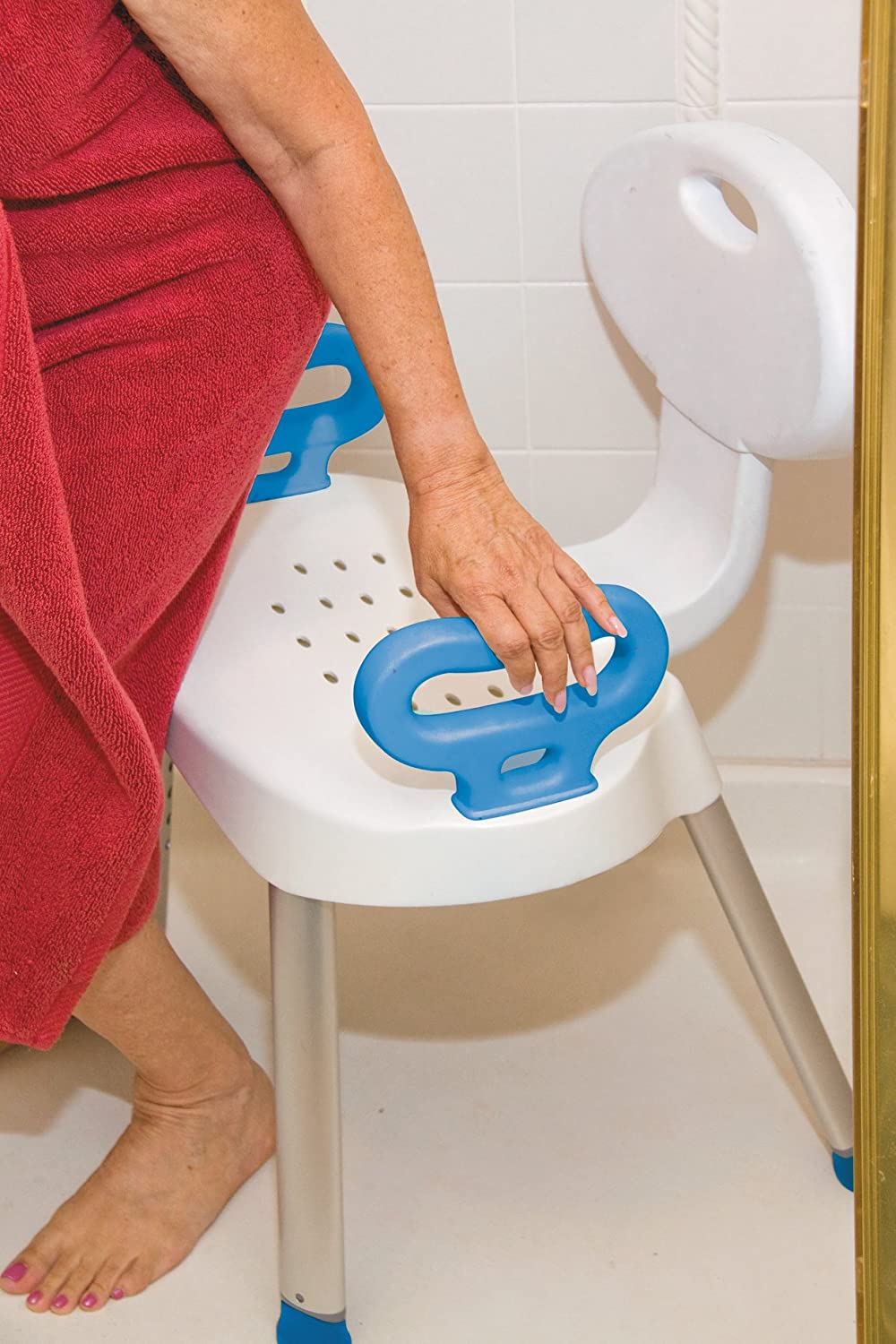 Amazon.com: Carex Health Brands E-Z Bath And Shower Seat with ...