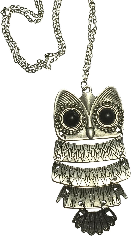 3 x Large Owl Alloy Key pendants charms