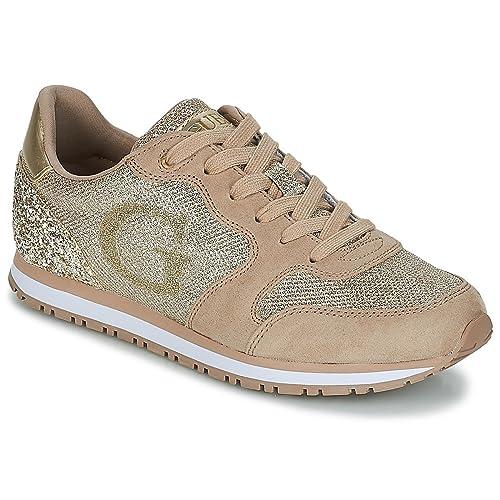 vasta selezione di 51e86 25b65 Guess Scarpe Sneaker Johnny FLJOH1 FAM12 Gold Primavera Estate 2018