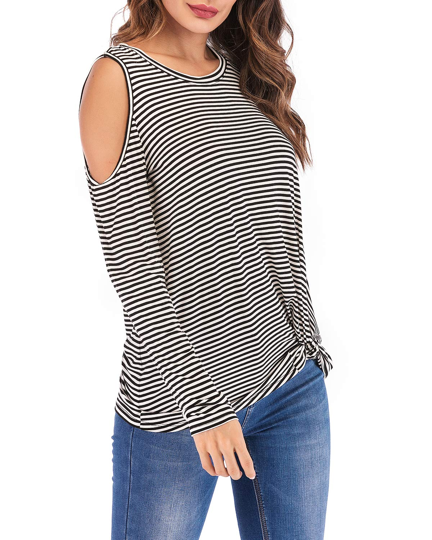 3315137efd1 51% discount on Eanklosco Cold Shoulder Shirt Women Long Sleeve Cut ...