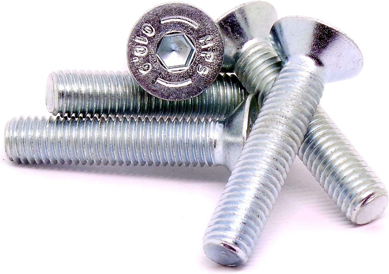 M10/ Douille hexagonale Vis /à t/ête frais/ée Boulons en acier lot de 10 10/mm X 50/mm