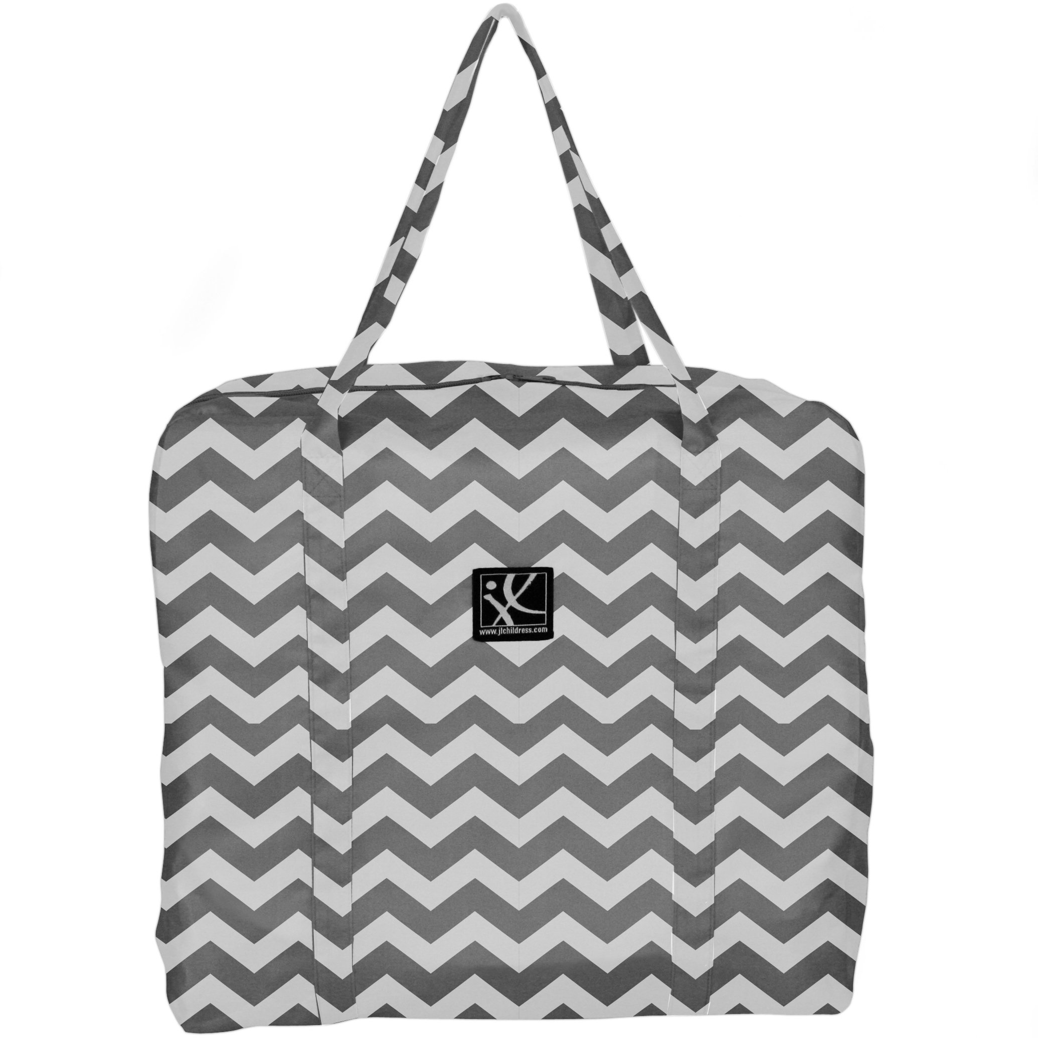 J.L. Childress Booster Go-Go Travel Bag for Backless Seats, Chevron by J.L. Childress