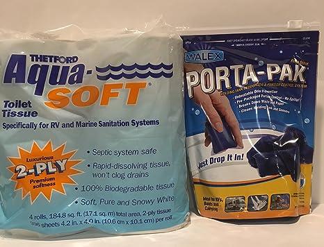 Amazon.com: Aqua Soft Thetford RV Toilet Tissue 2-Ply Toilet Paper ...