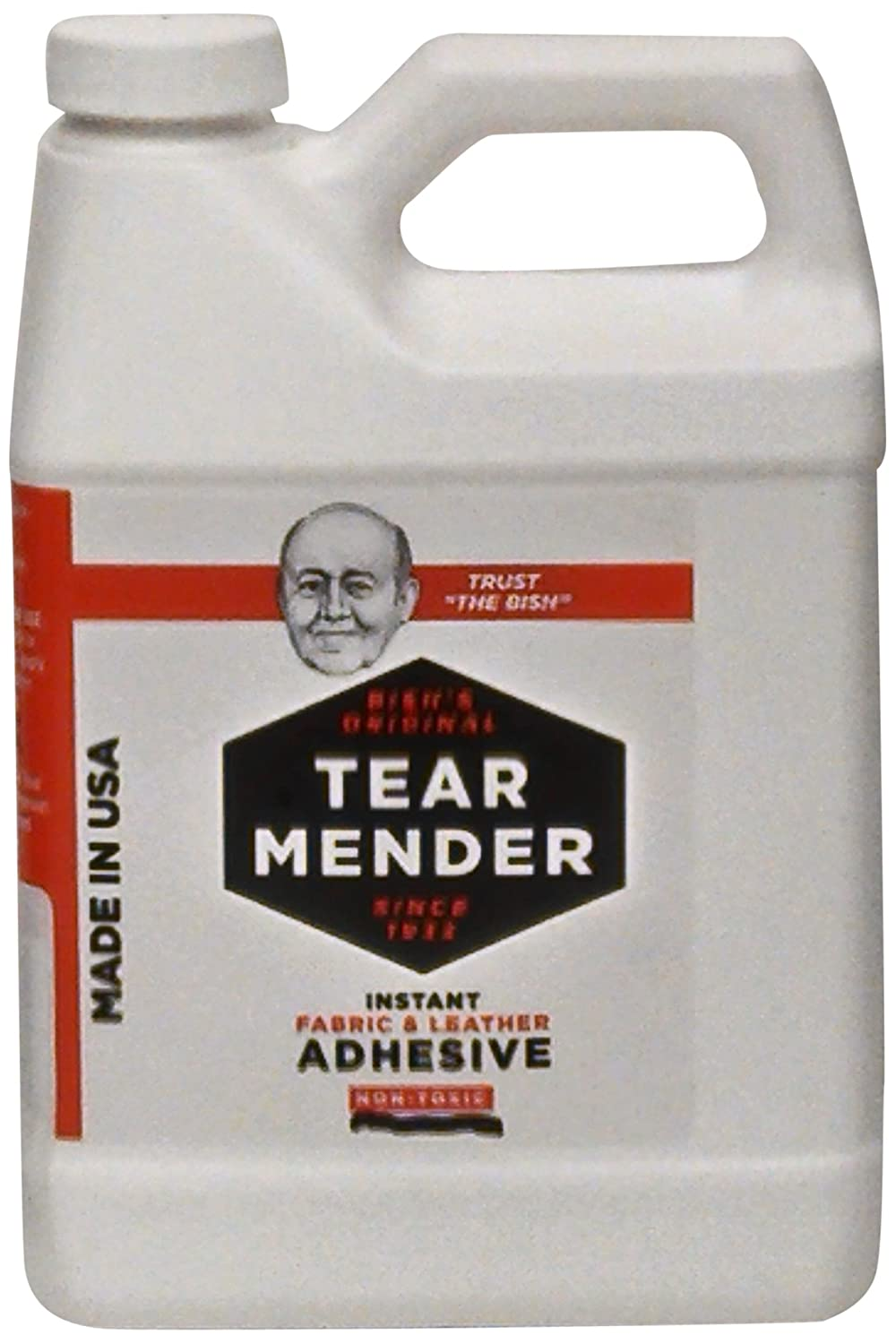 Tear Mender TG-32 Bish's Original Tear Mender Instant Fabric and Leather Adhesive, 950ml Container 32 oz  B00GOR27LI