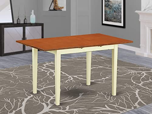 East West Furniture NFT-MAH-T Butterfly Leaf Norfolk Table