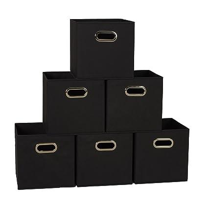 amazon com household essentials 80 1 foldable fabric storage bins