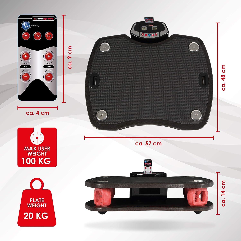 carga m/áxima 100 kg Ultrasport Plataforma vibratoria VP 400-3D