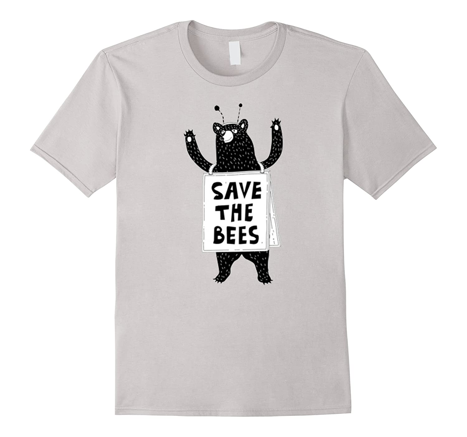 Save The Bees Honeybees Grizzly Bear Cartoon T Shirt-ah my shirt one gift