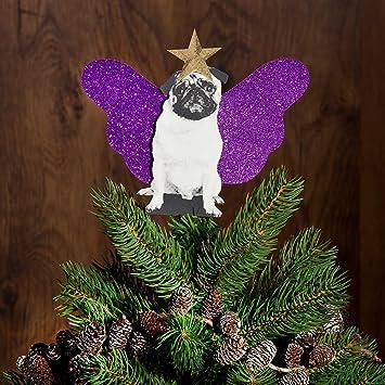 pug dog christmas tree topper