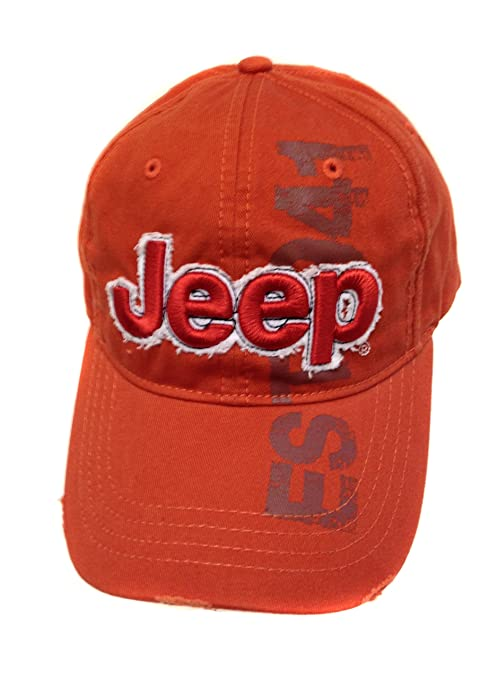 a6cba058 Jeep 3D Orange Cap: Amazon.ca: Automotive