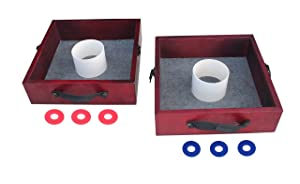 Triumph Tournament Outdoor Washer Toss Game Includes 6 Steel Washers and Easily Transportable