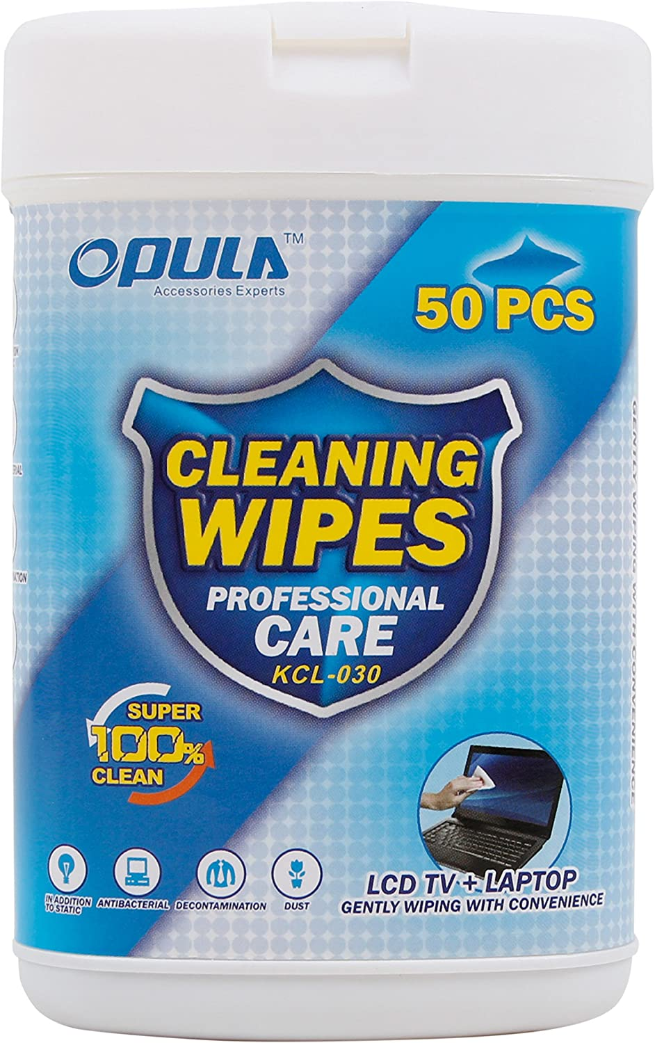 DURAGADGET 50 Anti-Static LCD Cleaning Cloths/Wipes - Compatible with Apple iPad Pro 10.5 | iPad Pro 12.9 (2017)