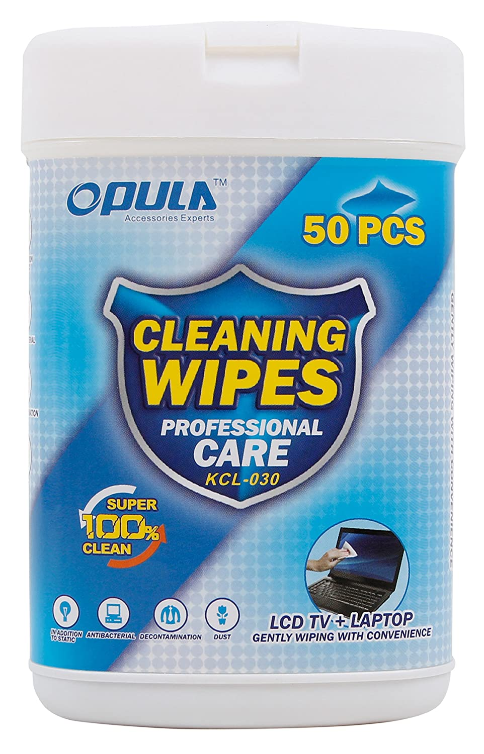DURAGADGET 50 Anti-Static LCD Cleaning Cloths Suitable for use with The Nextbase 112 Lite Dash Cam | iNCarCam 412GW | iNCarCam Duo