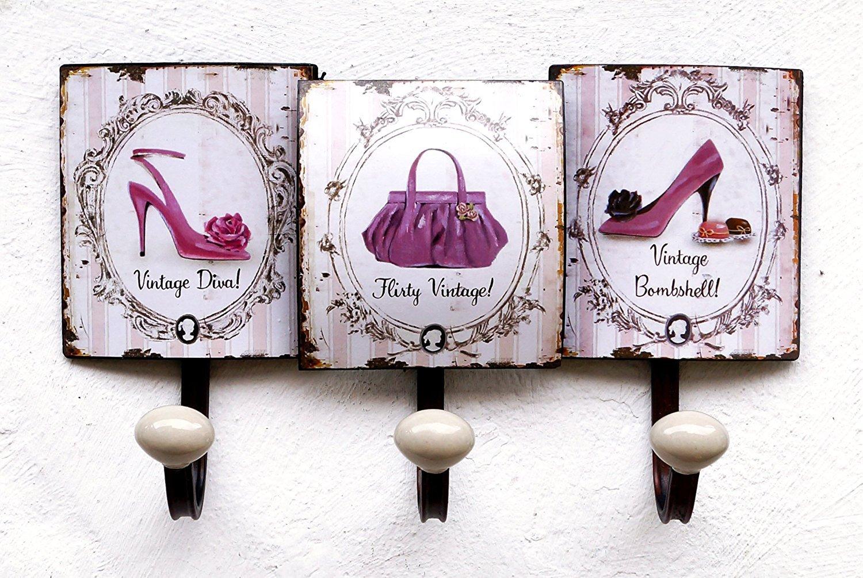 Lilienburg Garderobe Wandgarderobe Hakenleiste Metall 3er 35cm gross Prinzessin / Schuhe / Tasche Unbekannt