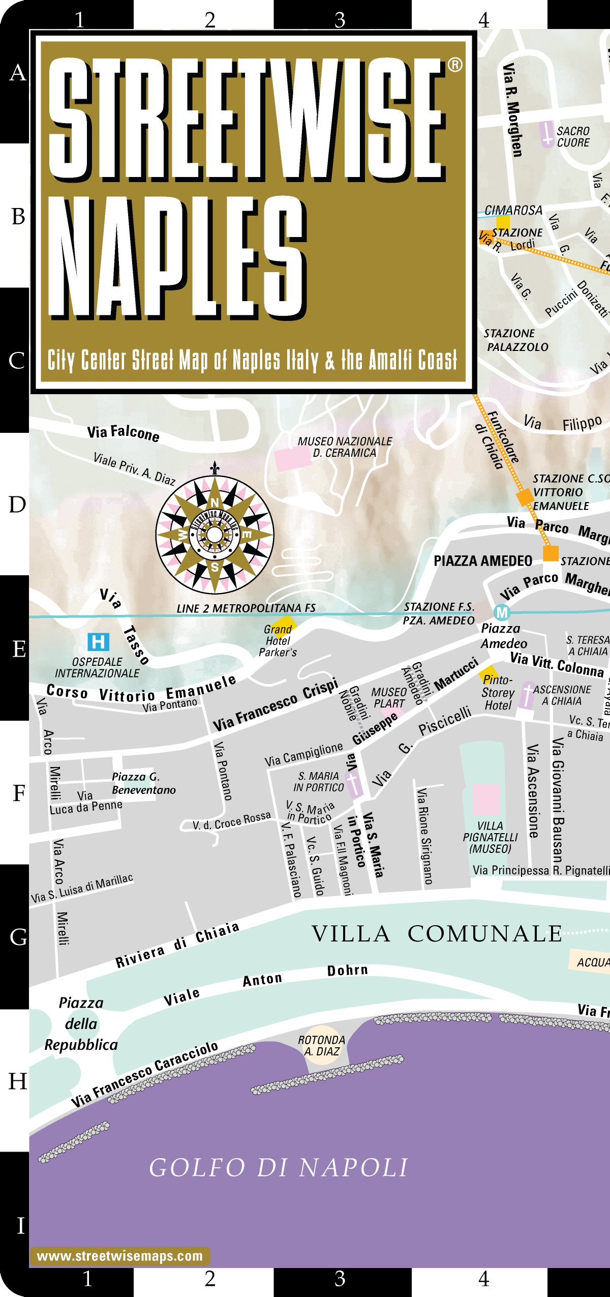 Streetwise Naples Map - Laminated City Center Street Map of Naples, Italy -  Folding pocket size travel map with metro lines & stations: Streetwise  Maps: ...