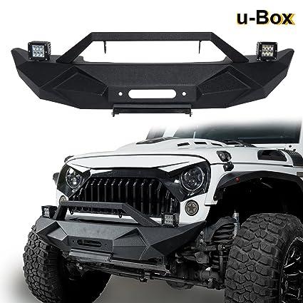 U Box 2007 2018 Jeep JK Blade Master Front Bumper W/Winch Plate
