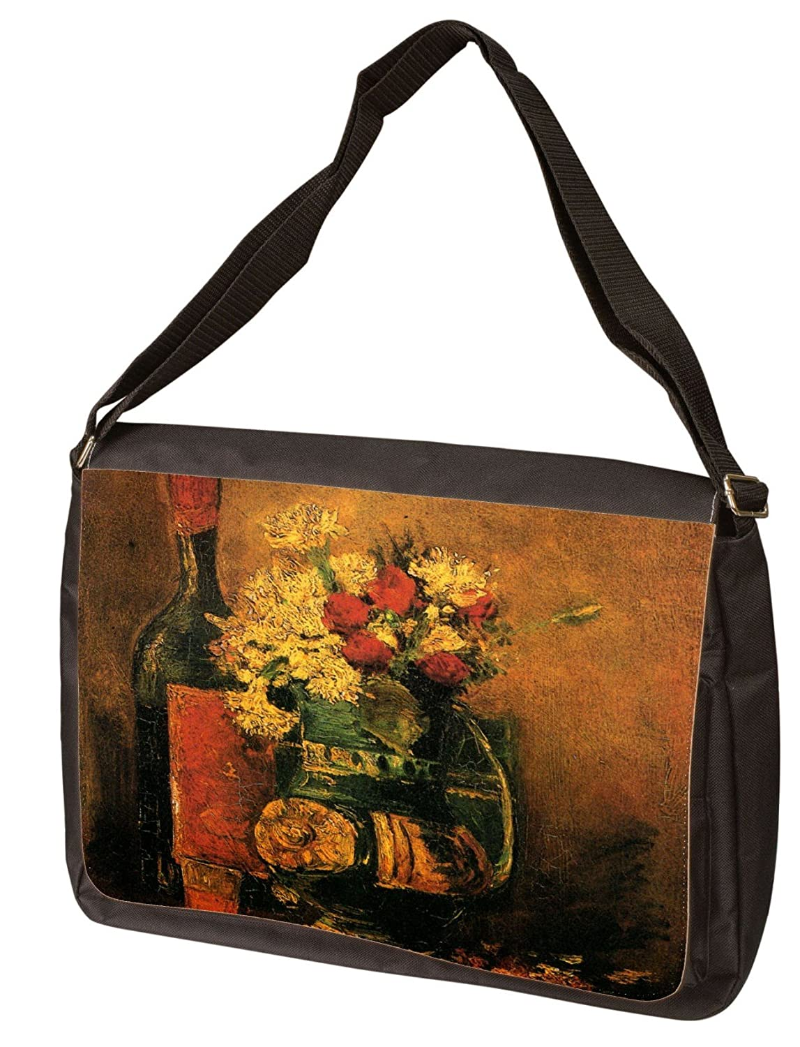 Vase With Carnations And Roses And A Bottle Vincent Van Gogh ラップトップショルダーバッグ   B00939NDYY