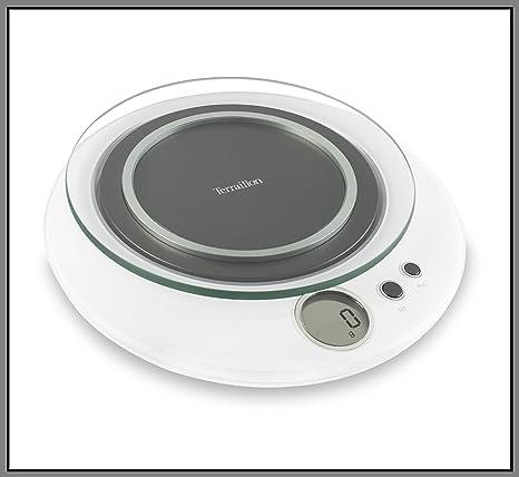 Terraillon Halo - Báscula de cocina electrónica (4 kg), color blanco