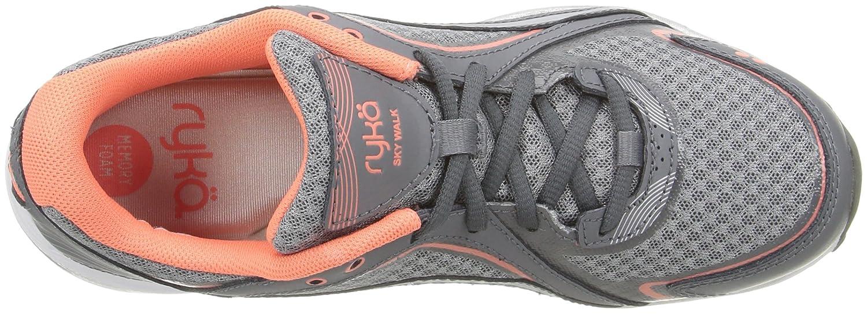 Ryka Women's Sky Walking Shoe B01AHF1ST4 6.5 W US|Grey/Coral