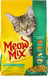 Meow Mix Indoor Formula Dry Cat Food, 3.15 Lbs