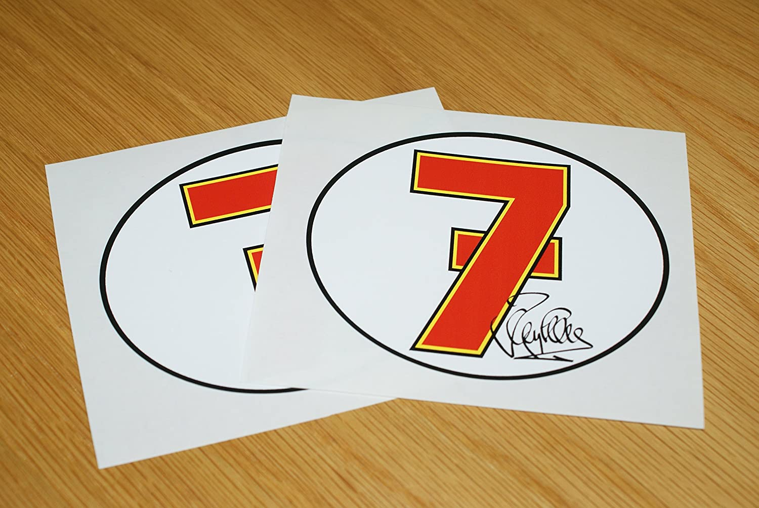 Barry Sheene Number 7 Stickers (Pair) Rapro Graphics
