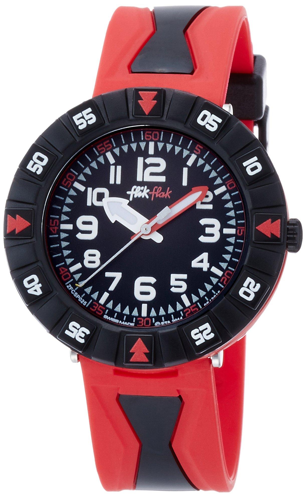 Flik Flak Rosson Black Dial Plastic Strap Boys Watch ZFCSP025