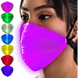 SoJourner Bags Máscara con luz LED – EDM Rave Máscaras para Hombres y Mujeres – Bandana con Luces Brillantes – Disfraz…