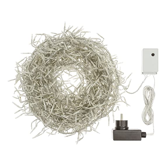 30V transparentes Kabel 750 Mini LEDs kaltweiß Cluster-Lichterkette 7,5 m