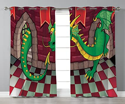 Amazon Com Stylish Window Curtains Cartoon Video Game Design Inside