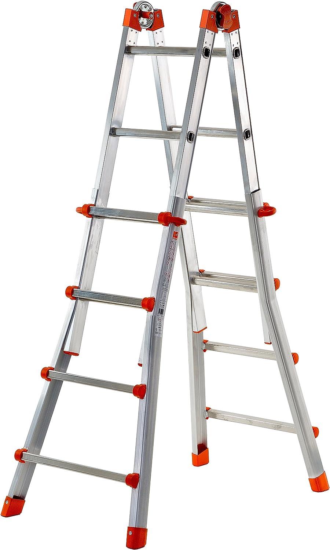 Gierre - Escalera Multiposición De Aluminio Peppina (5+5 Peldaños): Amazon.es: Hogar