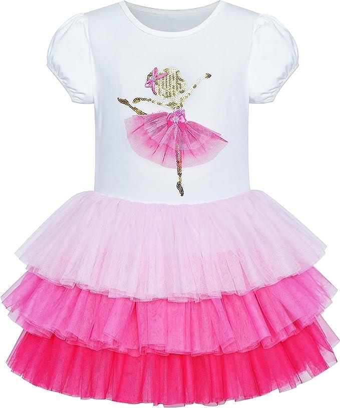 Amazon.com: Vestido de niña de tutú rosa con unicornio ...