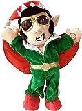 "Chantilly Lane Elfis The Rocker Sings Santa's Back in Town, 13"""
