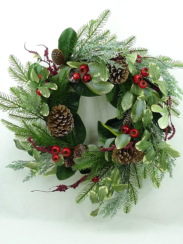 Jmb Christmas Garland With Pomegranates Pine Eucalyptus Berries And Pinecones 52 22 Wreath